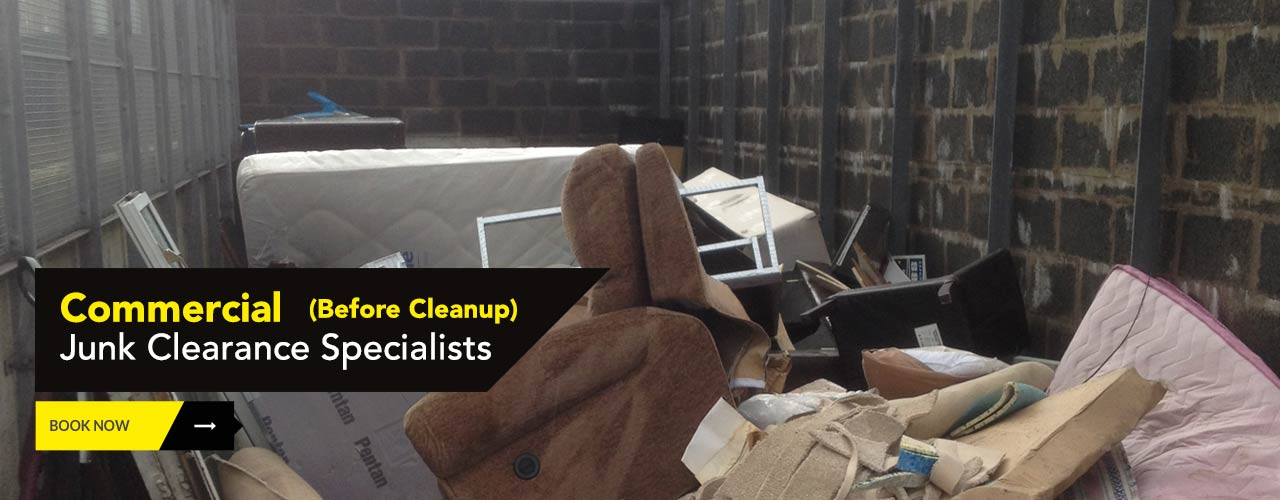 Commercial premises Glasgow prior to being cleared by Junk It