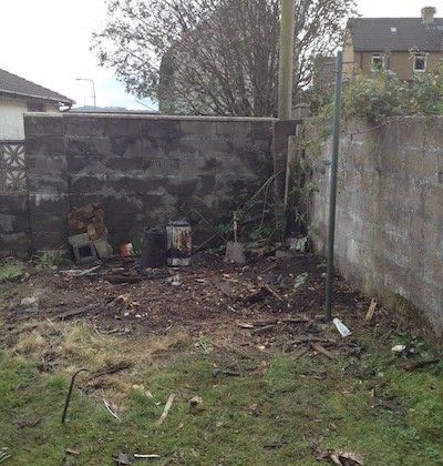 Garden after demo and removal of shed in Brodge of Weir