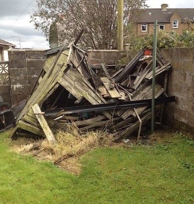 Garden Shed removal in Bridge of Weir