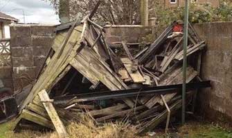 Garden Shed Removal Bridge of Weir